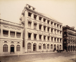 ['Times of India'] Building opposite St Thomas's Cathedral, connected with Elph. Cir. [Elphinstone Circle] - July 1898 - Kane, Bennet & Co.